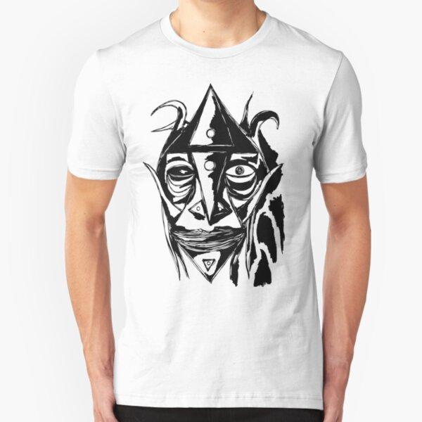 Zauberer Ziege Tusche Schwarz Slim Fit T-Shirt