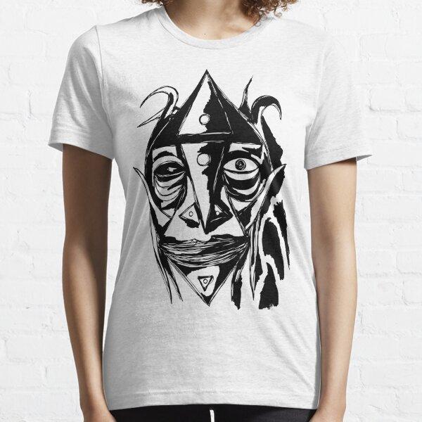 Zauberer Ziege Tusche Schwarz Essential T-Shirt