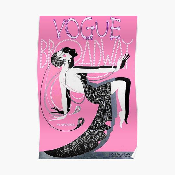 VOGUE : Vintage 1933 Broadway Flapper Print Poster