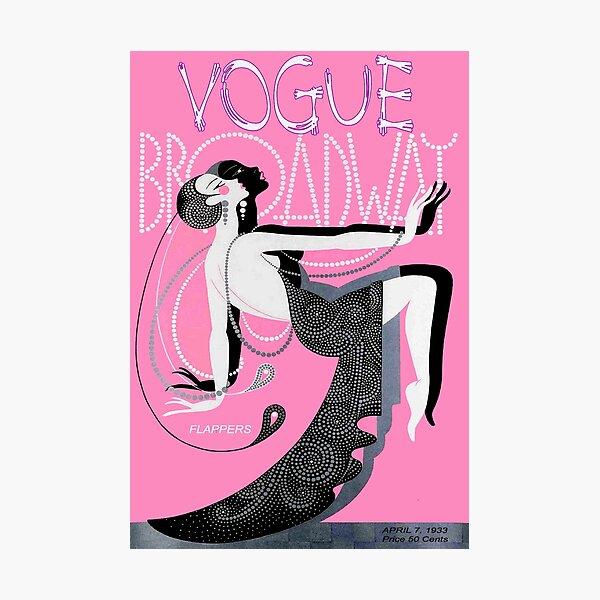 VOGUE : Vintage 1933 Broadway Flapper Print Photographic Print
