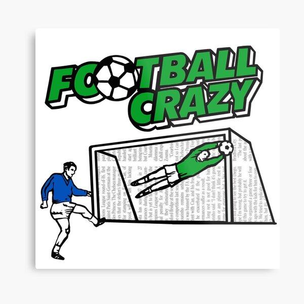 Football Crazy Green 80s retro classic crisps Metal Print
