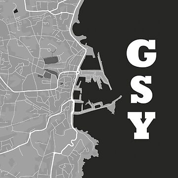 St Peter Port, Guernsey Map by Grathicks