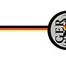 German Eagle Crest with German Flag ribbon by edsimoneit