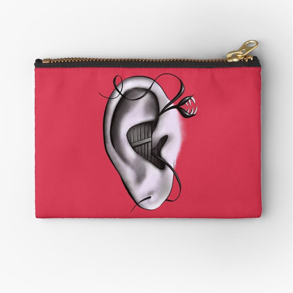 Ear Monster Weird Art Zipper Pouch