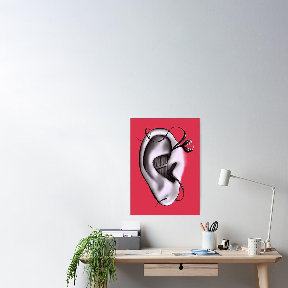 Ear Monster Weird Art Poster