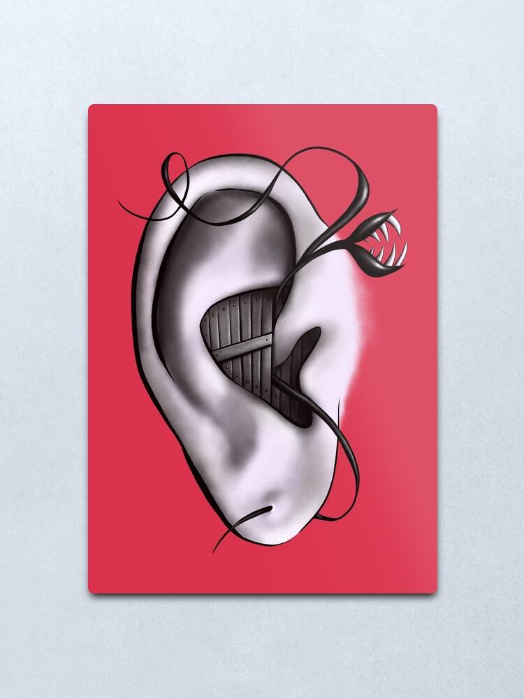 Alternate view of Ear Monster Weird Art Metal Print