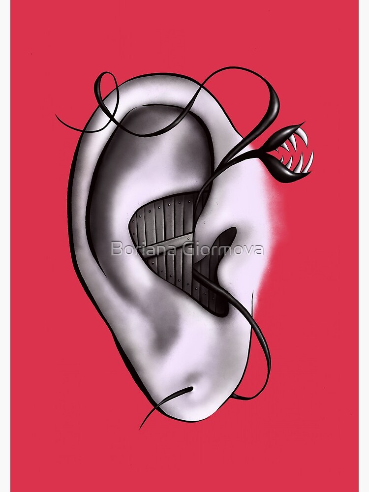 Ear Monster Weird Art by azzza