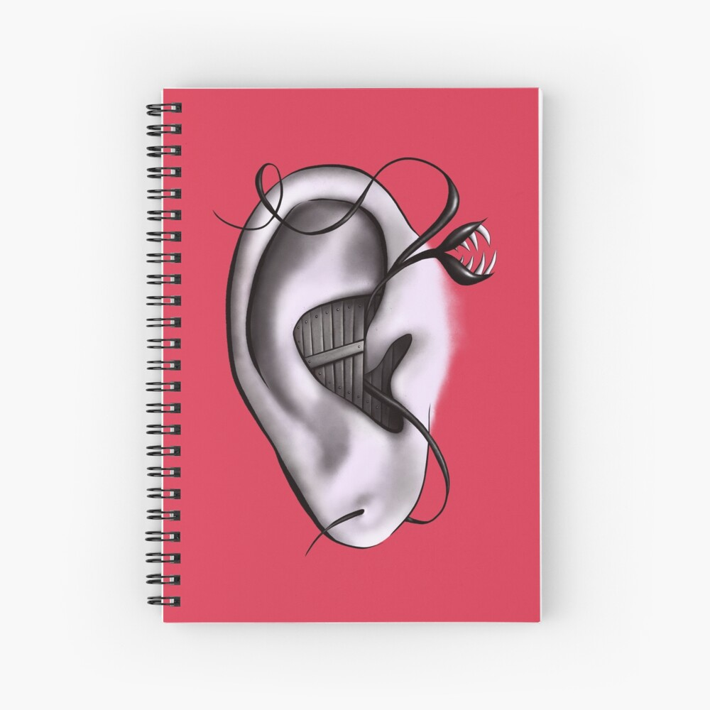 Ear Monster Weird Art Spiral Notebook