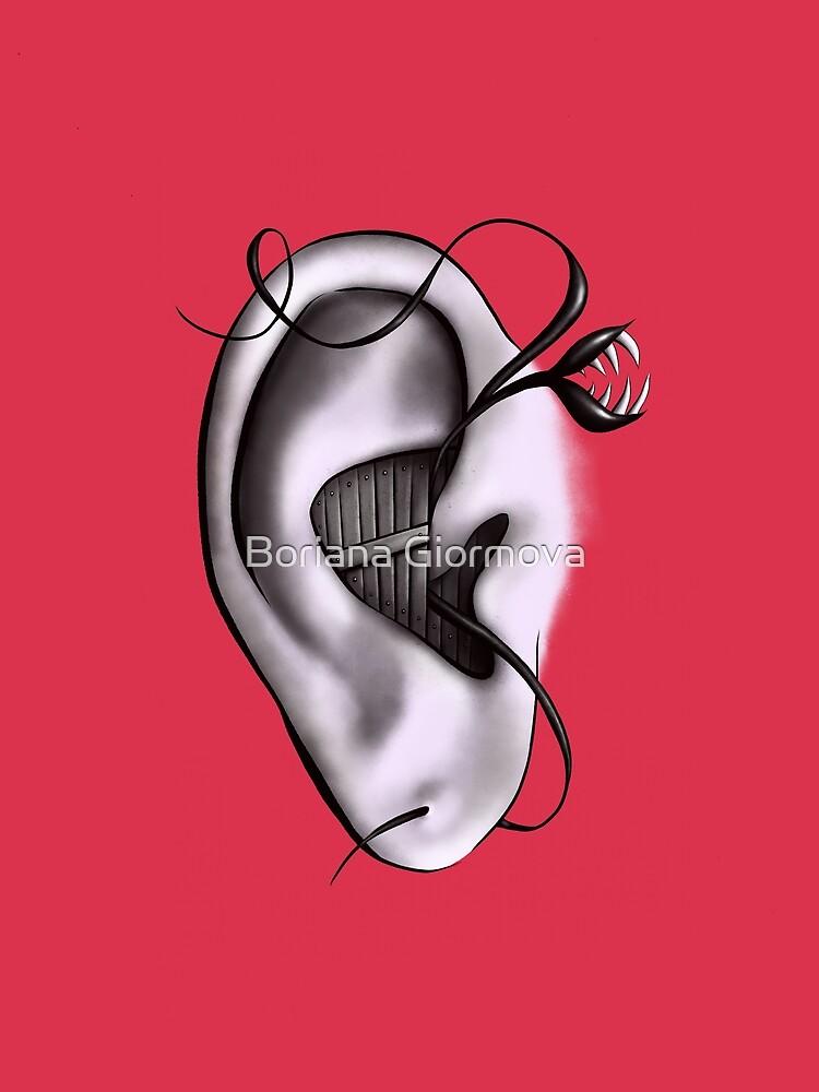 Ear Monster Weird Art by azzza