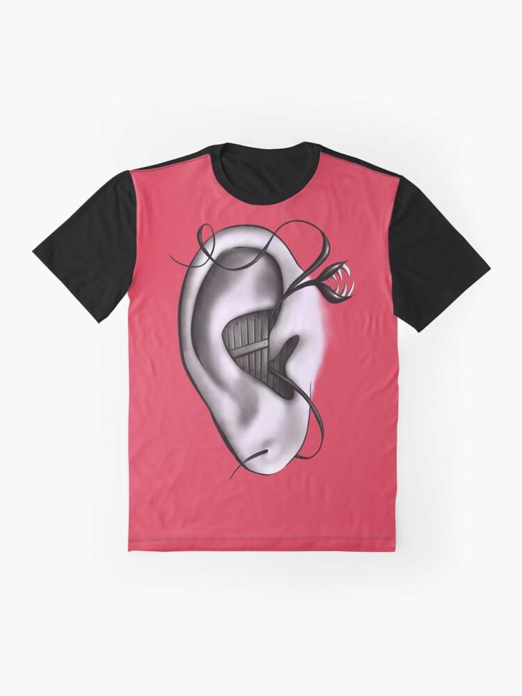 Alternate view of Ear Monster Weird Art Graphic T-Shirt