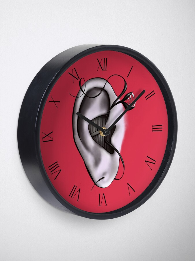 Alternate view of Ear Monster Weird Art Clock