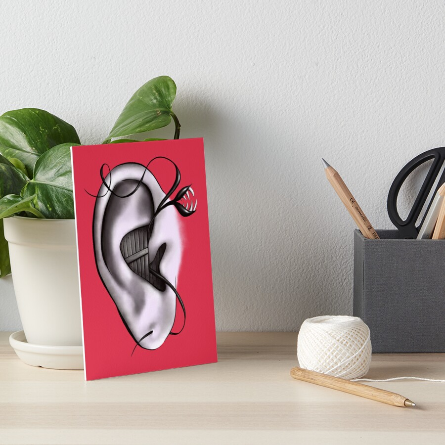 Ear Monster Weird Art Art Board Print