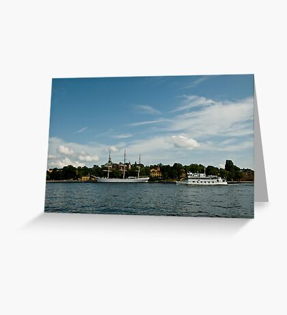 Two Ships, Two Epochs Greeting Card