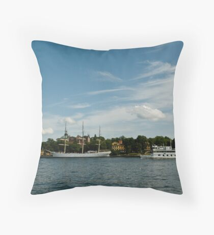 Two Ships, Two Epochs Throw Pillow