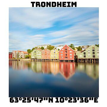 Trondheim Co-Ordinates by FrontierAtDusk