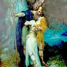 Wotan bidding farewell to Brunnhilde by edsimoneit