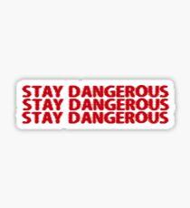 STAY DANGEROUS YG Sticker