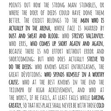 Daring Greatly Roosevelt Quote by shminoa