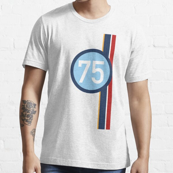'75' Racing number with RAF roundel colour stripes Essential T-Shirt