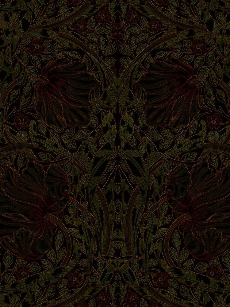 Dark Tapestry - Night Flowers by Etakeh