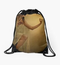 Eat. Drawstring Bag