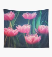 Pink Tulips Wall Tapestry
