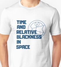 Time and Relative Blackness in Space Unisex T-Shirt