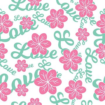 Love Floral Repeat Pattern by Lisamegan