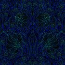 Dark Tapestry - Bright Blue by Etakeh