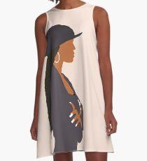 Janet Jackson - Poetische Gerechtigkeit A-Linien Kleid