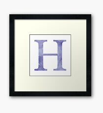 Violet Watercolor Η Framed Print