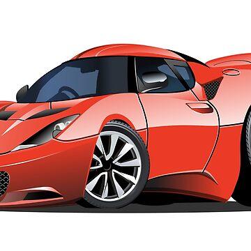 Cartoon sport car by Mechanick