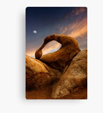 Sunset Over Mobius Arch in the Alabama Hills. Canvas Print