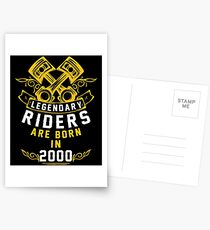 Legendary Riders Are Born In 2000 Postcards