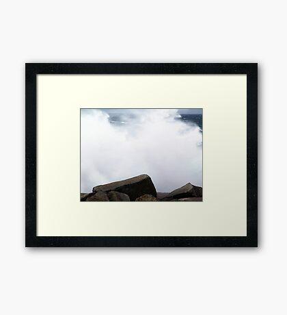 White-out! Framed Print