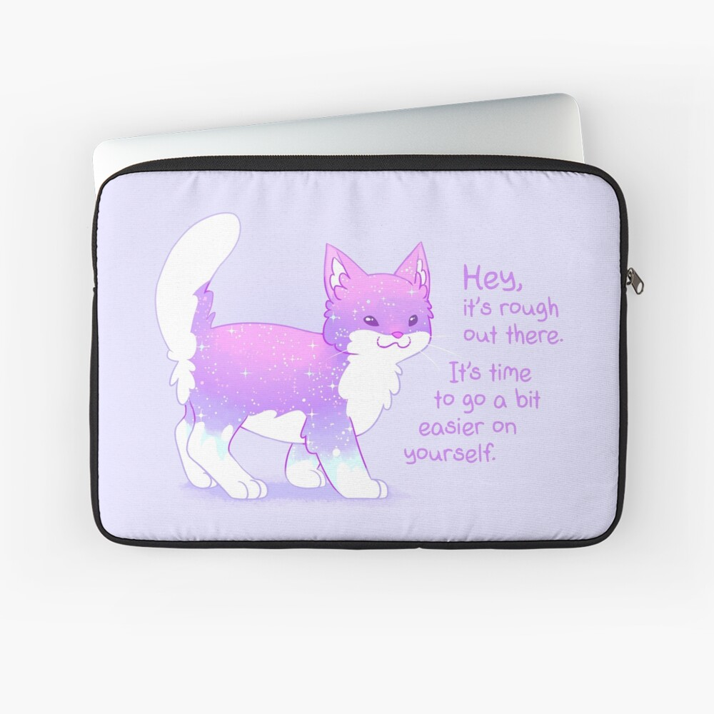 """""""It's Rough Out There"""" Sparkle Kitten Laptop Sleeve"""