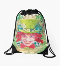 Mad Hatter Drawstring Bag