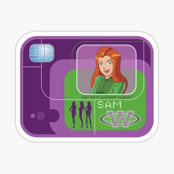 Totally spies Sam badge Sticker