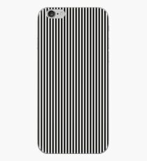 Black and White Pinstripe iPhone Case