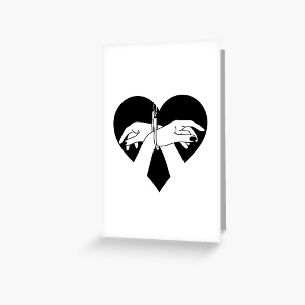 Heart tied hands Greeting Card