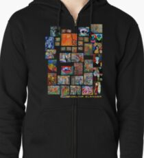 Art Collection Zipped Hoodie