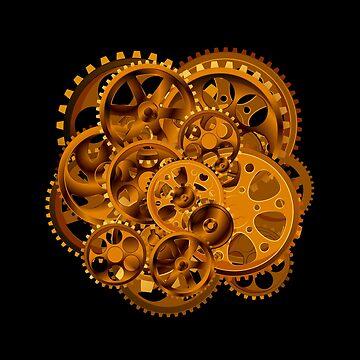 Cog Wheels Steampunk by stuch75