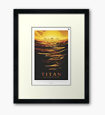 NASA Tourism - Titan Framed Print