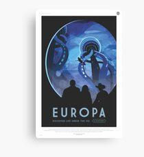 NASA Tourismus - Europa Leinwanddruck