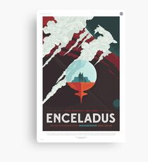 NASA Tourism - Enceladus Canvas Print