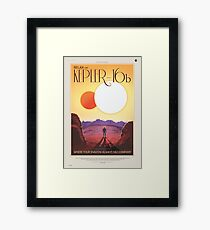 NASA Tourism - Kepler 16b Framed Print