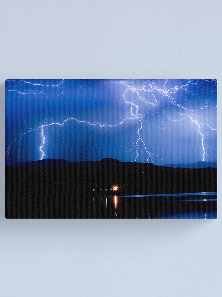 Alternate view of Lightning Blues Canvas Print