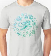 Camiseta ajustada Geo-rex Vortex | Turquesa Ombré
