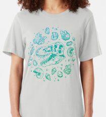 Geo-rex Vortex | Turquoise Ombré Slim Fit T-Shirt