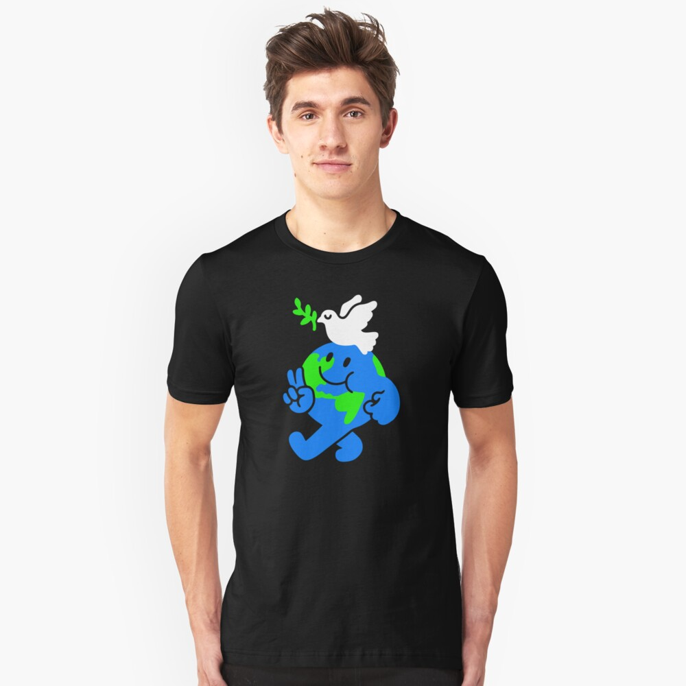 Peace On Earth Slim Fit T-Shirt